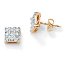 10k Gold Diamond Accent Earrings