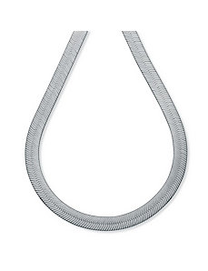 Sterling Silver Herringbone Chain by PalmBeach Jewelry
