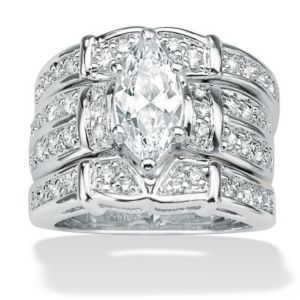 Cubic Zirconia SS Ring