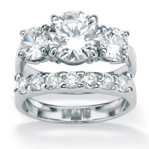 2-Piececubic zirconia Ring Set