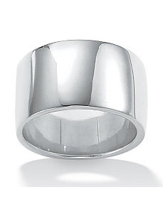 Sterling Silver Wedding Band by PalmBeach Jewelry