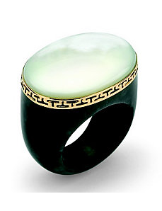Jade & Mother-of-Pearl Ring by PalmBeach Jewelry