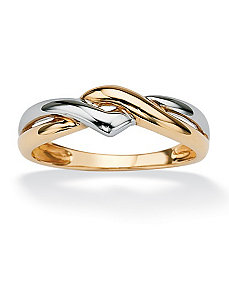 Tutone 10k Gold Twist Ring by PalmBeach Jewelry