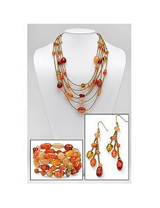 Multi-Colored Lucite Jewelry Set by PalmBeach Jewelry