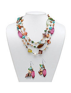 She'll and Lucite Jewelry Set by PalmBeach Jewelry