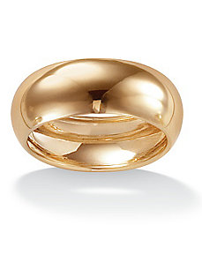 10k Gold Wedding Band 8 mm by PalmBeach Jewelry