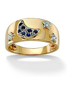 Moon & Stars Ring by PalmBeach Jewelry