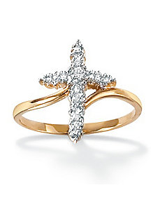 Diamond Accent Cross Ring by PalmBeach Jewelry