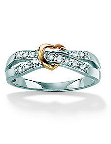 Diamond Accent Heart Ring by PalmBeach Jewelry