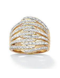 Diamond Dome Ring by PalmBeach Jewelry