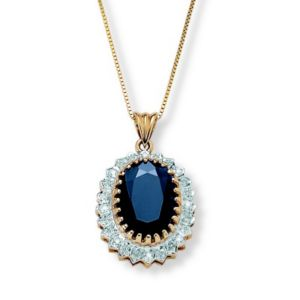 Sapphire and Diamond Accent Pendant