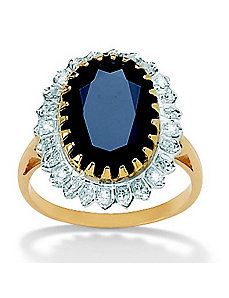 Sapphire and Diamond Accent Ring by PalmBeach Jewelry