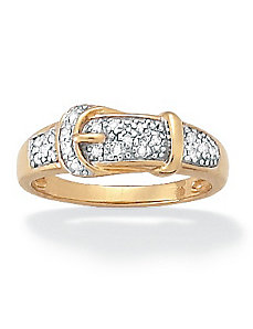 Diamond Buckle Ring by PalmBeach Jewelry