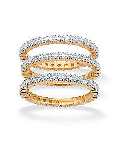 Set of 3 Eternity Rings by PalmBeach Jewelry