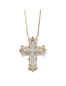 Diamond Accent Cross Pendant by PalmBeach Jewelry
