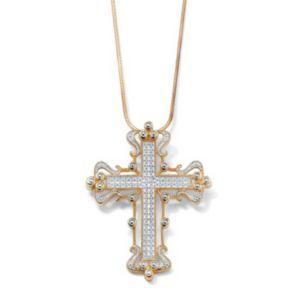 Diamond Accent Cross Pendant
