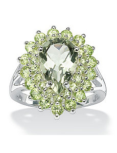 Green Amethyst and Peridot Ring by PalmBeach Jewelry