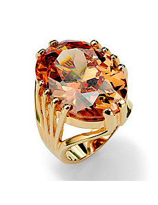 Champagnecubic zirconia Ring by PalmBeach Jewelry