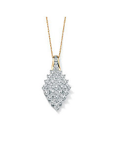 Diamond Cluster Pendant by PalmBeach Jewelry