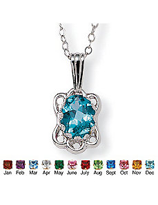 Birthstone Pendant by PalmBeach Jewelry