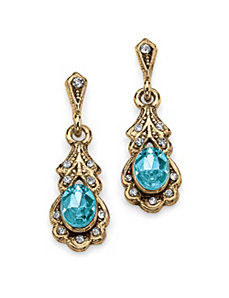 Birthstone Pierced Earrings by PalmBeach Jewelry