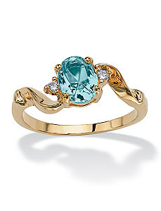 Simulated Birthstone Ring by PalmBeach Jewelry