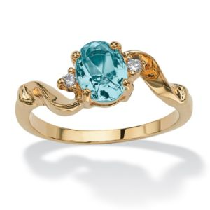 Simulated Birthstone Ring