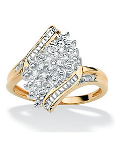 Diamond Accent Crossover Ring by PalmBeach Jewelry