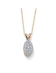 Diamond Pave Cluster Pendant by PalmBeach Jewelry
