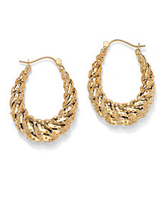 Perforated Shrimp-Style Earrings by PalmBeach Jewelry
