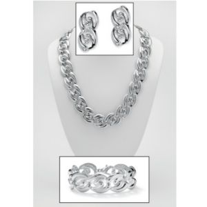 Three-Piece Curb-Link Jewelry Set