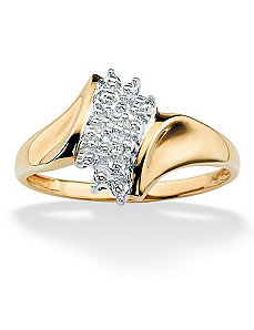 Diamond Accent Cluster Ring by PalmBeach Jewelry