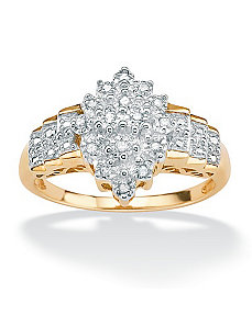 Diamond Cutout Step Ring by PalmBeach Jewelry