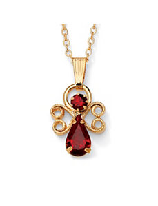 Birthstone Angel Pendant by PalmBeach Jewelry