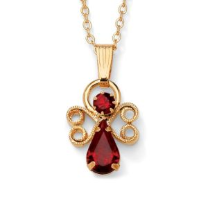 Birthstone Angel Pendant