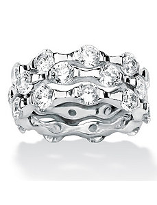 Set of Threecubic zirconia Rings by PalmBeach Jewelry