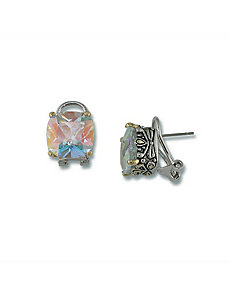 Aurora Borealiscubic zirconia Earrings by PalmBeach Jewelry