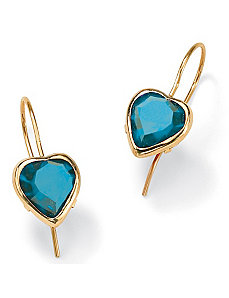Heart-Shaped Birthstone Earrings by PalmBeach Jewelry