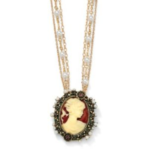Antiqued Cameo Pendant-Necklace