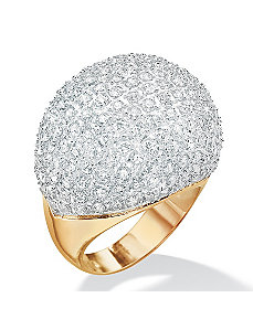 Cubic Zirconia Dome Ring by PalmBeach Jewelry