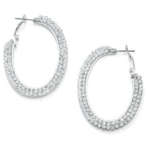 Multi-Crystal Hoop Pierced Earrings