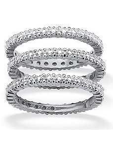 Set of Three Eternity Bands by PalmBeach Jewelry