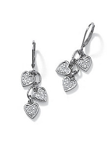 Diamond Accent POS Pierced Earrings by PalmBeach Jewelry