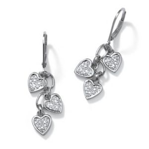 Diamond Accent POS Pierced Earrings