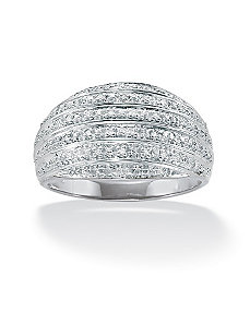 Diamond Accent Dome Ring by PalmBeach Jewelry
