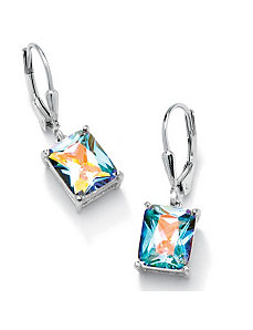 Aurora Borealiscubic zirconia Pierced Earrings by PalmBeach Jewelry