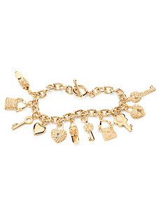 Crystal Charm Bracelet by PalmBeach Jewelry