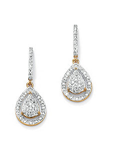Diamond Pear-Shaped Earrings by PalmBeach Jewelry