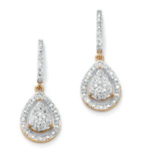 Diamond Pear-Shaped Earrings