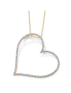 Diamond Accent Heart Pendant by PalmBeach Jewelry